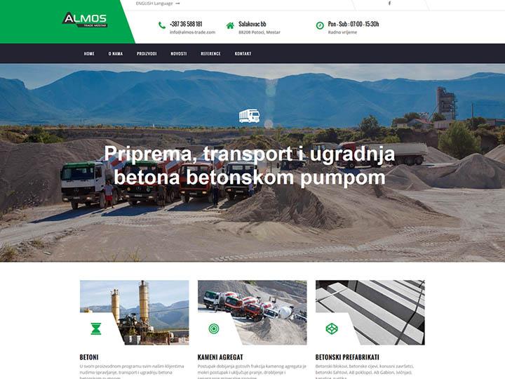 almos trade mostar izrada web stranice
