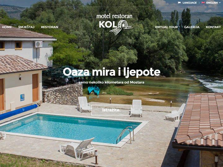 motel kolo buna izrada web stranice
