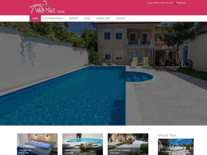 villa mike mostar izrada web stranice
