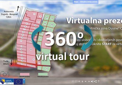 virtualna setnja orasje poduzetnicka zona dusine