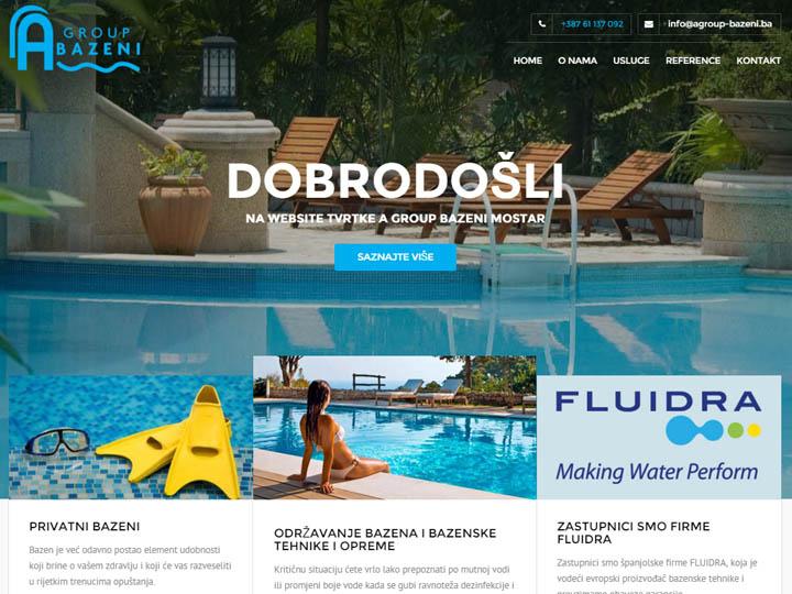agroup bazeni mostar izrada web stranice