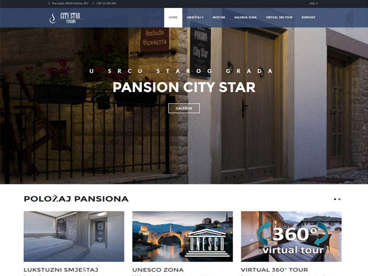 city star pansion izrada web stranice