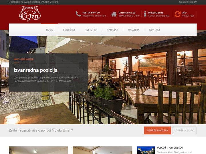 motel emen mostar izrada web stranice