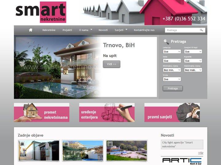 smart nekretnine mostar izrada web stranice