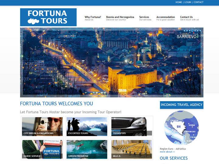 fortuna tours mostar izrada web stranice