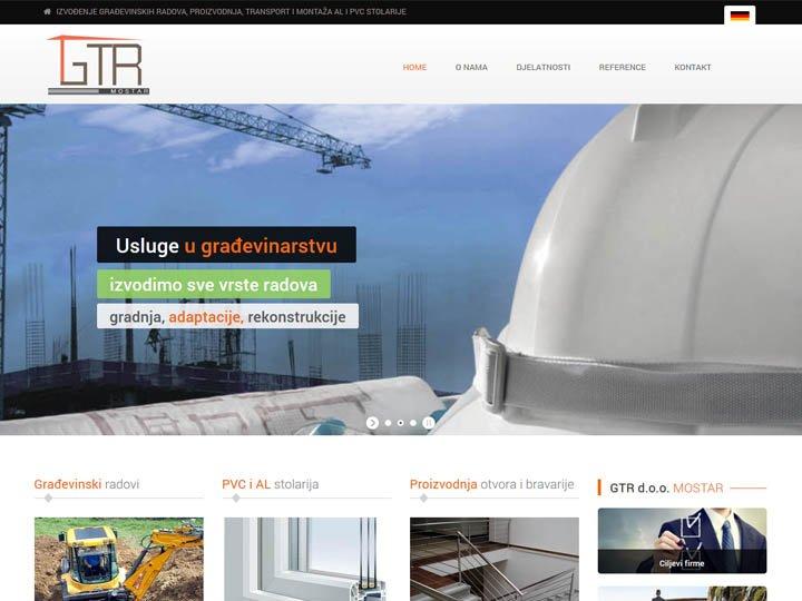 gtr mostar izrada web stranice