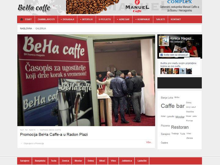 beha caffe magazin izrada web stranice