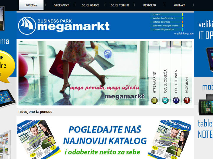 megamarkt trzni centar mostar izrada web stranice