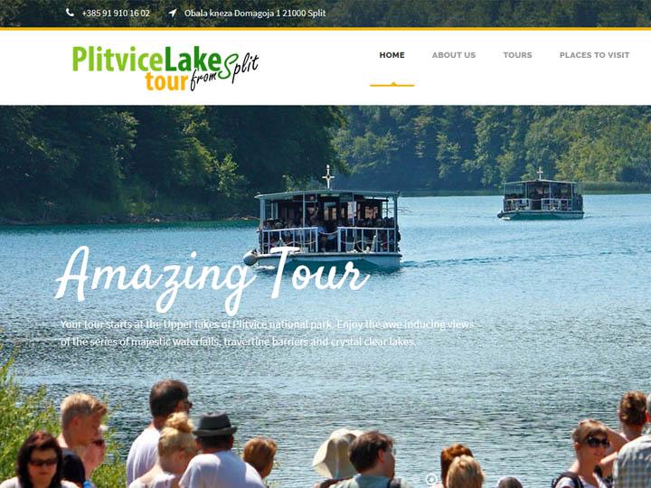 Izrada web stranice za Plitvice waterfalls from Split